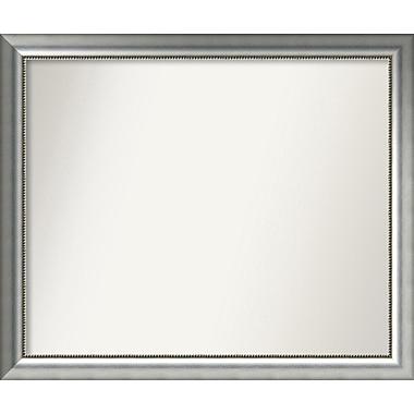 Willa Arlo Interiors Burnished Silver Wood Wall Mirror; 35.75'' H x 42.75'' W x 1.5'' D