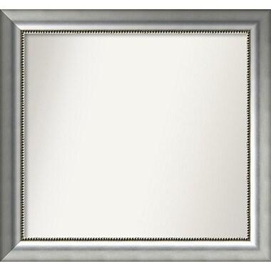 Willa Arlo Interiors Burnished Silver Wood Wall Mirror; 27.75'' H x 29.75'' W x 1.5'' D
