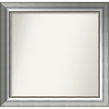 Willa Arlo Interiors Burnished Silver Wood Wall Mirror; 25.75'' H x 26.75'' W x 1.5'' D