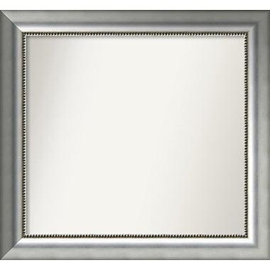 Willa Arlo Interiors Burnished Silver Wood Wall Mirror; 25.75'' H x 27.75'' W x 1.5'' D