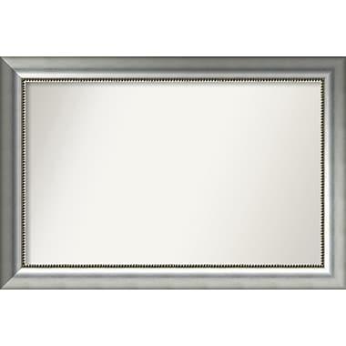 Willa Arlo Interiors Burnished Silver Wood Wall Mirror; 24.75'' H x 36.75'' W x 1.5'' D