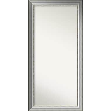 Willa Arlo Interiors Burnished Silver Wood Wall Mirror; 54.75'' H x 26.75'' W x 1.5'' D