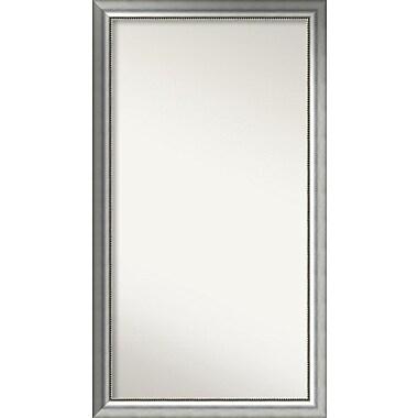 Willa Arlo Interiors Burnished Silver Wood Wall Mirror; 56.75'' H x 31.75'' W x 1.5'' D