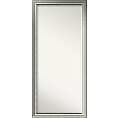 Willa Arlo Interiors Burnished Silver Wood Wall Mirror; 63.75'' H x 29.75'' W x 1.5'' D