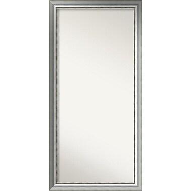 Willa Arlo Interiors Burnished Silver Wood Wall Mirror; 60.75'' H x 29.75'' W x 1.5'' D