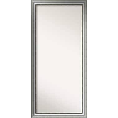 Willa Arlo Interiors Burnished Silver Wood Wall Mirror; 60.75'' H x 28.75'' W x 1.5'' D