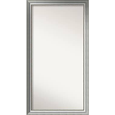 Willa Arlo Interiors Burnished Silver Wood Wall Mirror; 58.75'' H x 31.75'' W x 1.5'' D