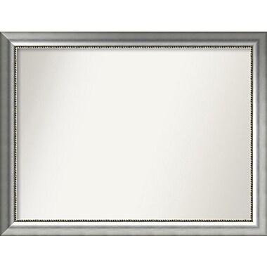 Willa Arlo Interiors Burnished Silver Wood Wall Mirror; 32.75'' H x 42.75'' W x 1.5'' D