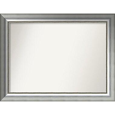 Willa Arlo Interiors Burnished Silver Wood Wall Mirror; 25.75'' H x 33.75'' W x 1.5'' D