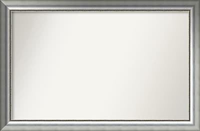 Willa Arlo Interiors Burnished Silver Wood Wall Mirror; 30.75'' H x 46.75'' W x 1.5'' D WYF078281672965