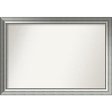 Willa Arlo Interiors Burnished Silver Wood Wall Mirror; 29.75'' H x 42.75'' W x 1.5'' D