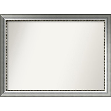 Willa Arlo Interiors Burnished Silver Wood Wall Mirror; 31.75'' H x 42.75'' W x 1.5'' D