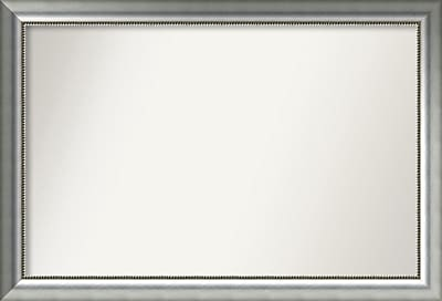 Willa Arlo Interiors Burnished Silver Wood Wall Mirror; 31.75'' H x 46.75'' W x 1.5'' D WYF078281672995
