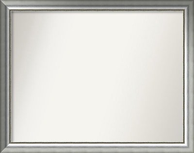 Willa Arlo Interiors Burnished Silver Wood Wall Mirror; 36.75'' H x 46.75'' W x 1.5'' D WYF078281673019