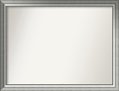 Willa Arlo Interiors Burnished Silver Wood Wall Mirror; 35.75'' H x 46.75'' W x 1.5'' D WYF078281673027