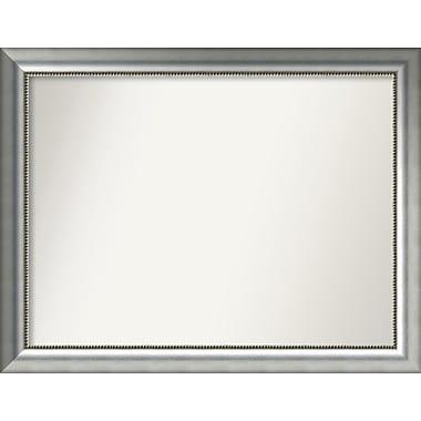 Willa Arlo Interiors Burnished Silver Wood Wall Mirror; 30.75'' H x 39.75'' W x 1.5'' D