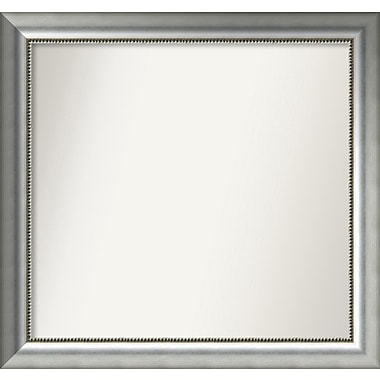 Willa Arlo Interiors Burnished Silver Wood Wall Mirror; 30.75'' H x 32.75'' W x 1.5'' D