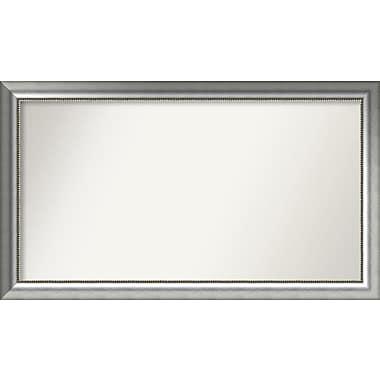 Willa Arlo Interiors Burnished Silver Wood Wall Mirror; 29.75'' H x 51.75'' W x 1.5'' D