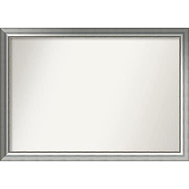 Willa Arlo Interiors Burnished Silver Wood Wall Mirror; 35.75'' H x 50.75'' W x 1.5'' D