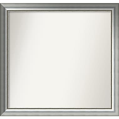 Willa Arlo Interiors Burnished Silver Wood Wall Mirror; 36.75'' H x 38.75'' W x 1.5'' D