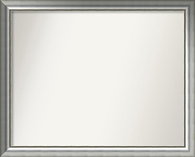 Willa Arlo Interiors Burnished Silver Wood Wall Mirror; 37.75'' H x 46.75'' W x 1.5'' D WYF078281673075
