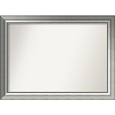 Willa Arlo Interiors Burnished Silver Wood Wall Mirror; 27.75'' H x 37.75'' W x 1.5'' D