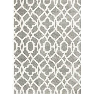 Willa Arlo Interiors Carolos Gray/Ivory Area Rug; 3'3'' x 5'3''