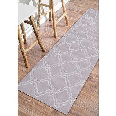 Willa Arlo Interiors Cherelle Hand-Woven Gray Area Rug; 5' x 8'