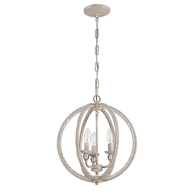 Willa Arlo Interiors Clarice 3-Light Candle-Style Chandelier; Antique Linen