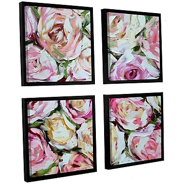 Willa Arlo Interiors 'Box of Roses' 4 Piece Framed Painting Print on Canvas Set