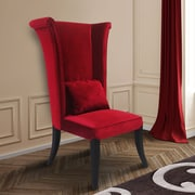 Willa Arlo Interiors Borrego Wingback Chair; Red