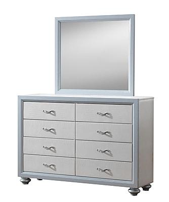 Willa Arlo Interiors Charee Mirror; Beige/Gray