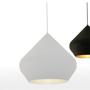 Willa Arlo Interiors Candide Black 1-Light Pendant; White
