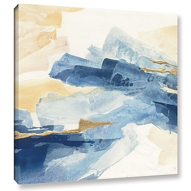 Willa Arlo Interiors 'Gilded Indigo I' Painting Print on Wrapped Canvas; 14'' H x 14'' W x 2'' D