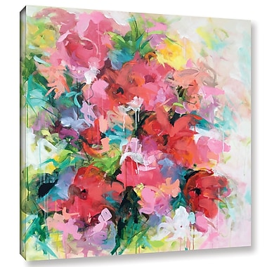 Willa Arlo Interiors 'Red Flowers' Painting Print on Wrapped Canvas; 10'' H x 10'' W x 2'' D