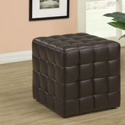 Willa Arlo Interiors Hendrix Ottoman; Dark Brown