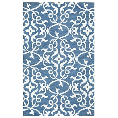 Willa Arlo Interiors Hexham Hand-Tufted Blue Area Rug; 5' x 8'