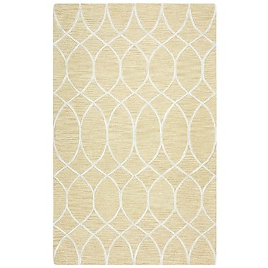 Willa Arlo Interiors Jacobson Hand-Tufted Beige Area Rug; 5' x 8'