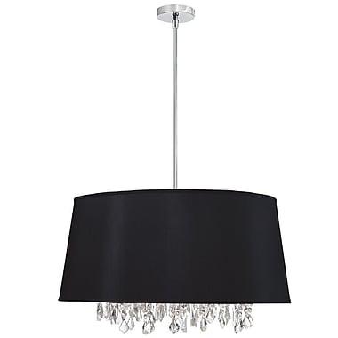Willa Arlo Interiors Deston Modern 6-Light Drum Pendant; Black