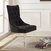 Willa Arlo Interiors Cliveden Parsons Chair; Black
