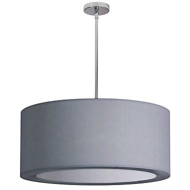Willa Arlo Interiors Deston 4-Light Drum Pendant; Silver