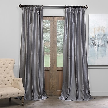 Willa Arlo Interiors Estrada Solid Blackout Pinch Pleat Single Curtain Panel; 50'' W x 84'' L