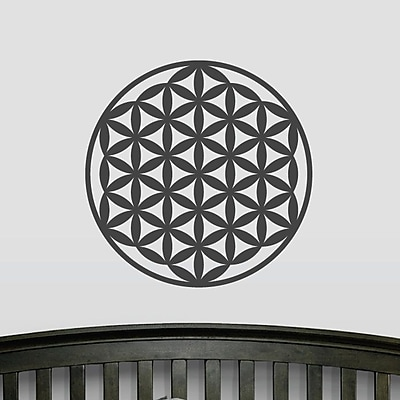 Wallums Wall Decor Flower of Life Wall Decal; Black