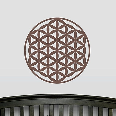 Wallums Wall Decor Flower of Life Wall Decal; Chocolate Brown