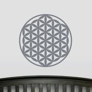 Wallums Wall Decor Flower of Life Wall Decal; Storm Gray