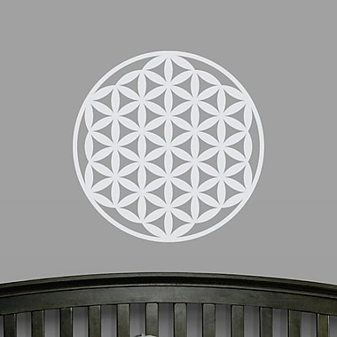 Wallums Wall Decor Flower of Life Wall Decal; White