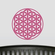 Wallums Wall Decor Flower of Life Wall Decal; Pink