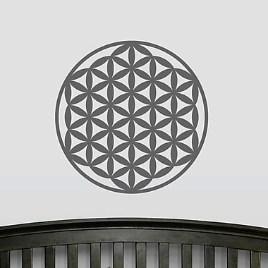 Wallums Wall Decor Flower of Life Wall Decal; Dark Gray