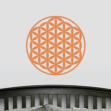 Wallums Wall Decor Flower of Life Wall Decal; Persimmon