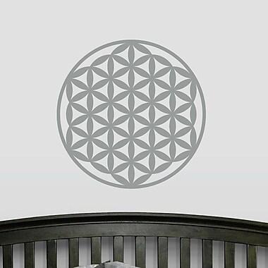 Wallums Wall Decor Flower of Life Wall Decal; Silver Metallic